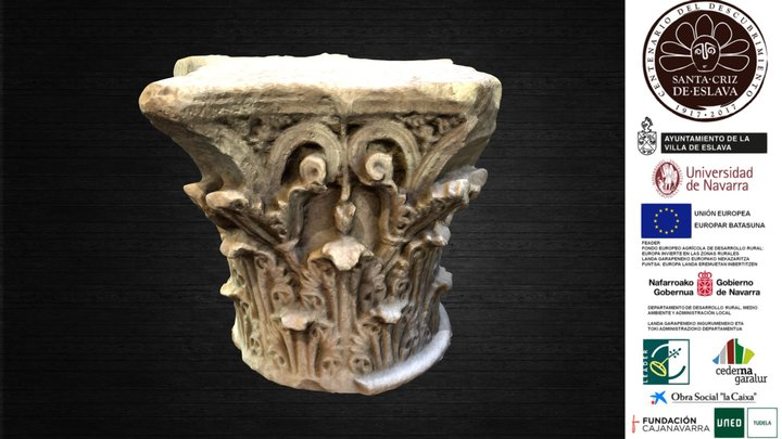 "Capitel corintio ""2ª Triunvirato"", cambio de Era 3D Model"