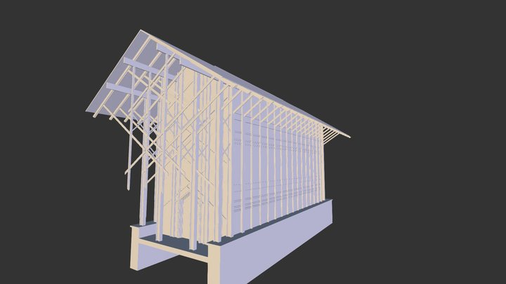 Thorncrown Chapel from Max 3D Model