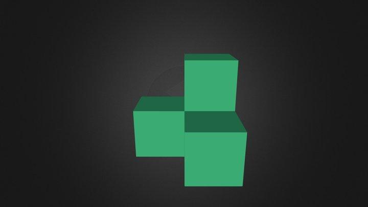 Green block 3D Model