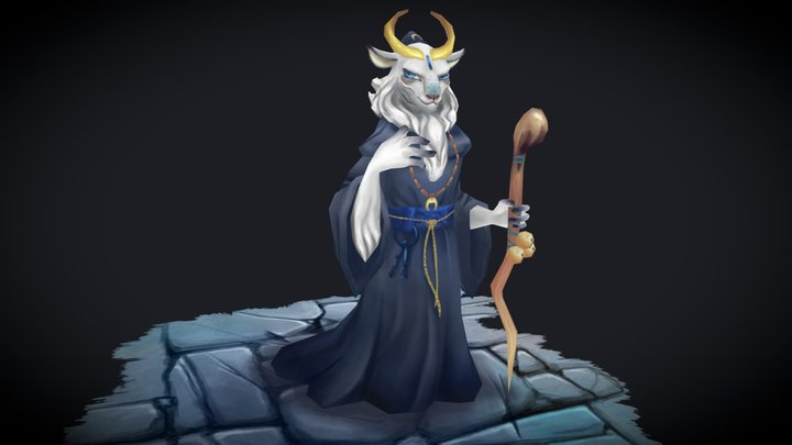 Goat Monk 3D Model
