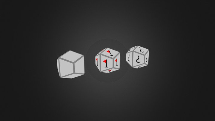 Trapezo Rhombic Dodecahedron 3D Model