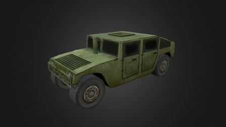 LowPoly Humvee 3D Model