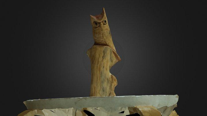 Wood bird carving photogrammetry on Meshroom 3D Model