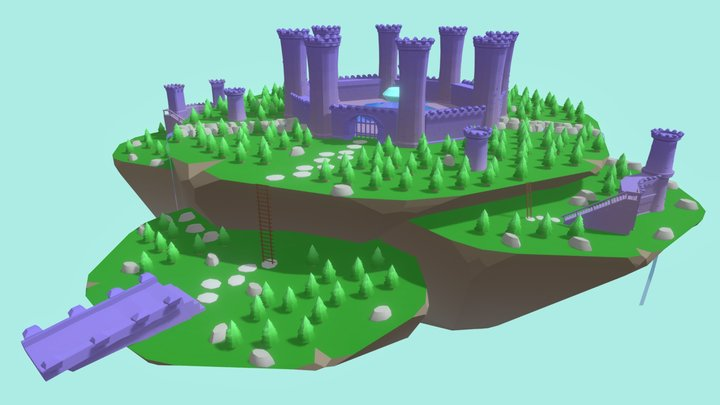 Floating Island - Source of the Ocean 3D Model