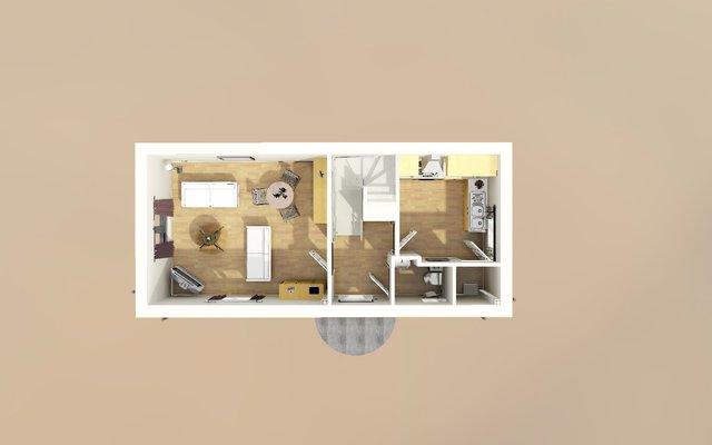 Duplex Ground Floorplan 3D Model
