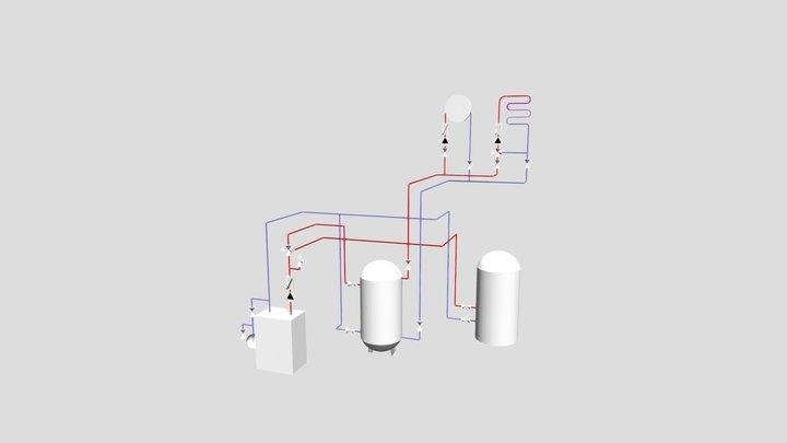 WP Hydraulikschema 3D Model