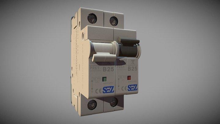 Automatic circuit breaker 3D Model