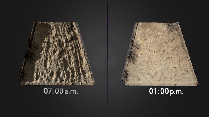 Lighting techniques in crop marks 3D Model