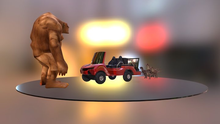 Mixed Reality Virtainment Buggy 3D Model