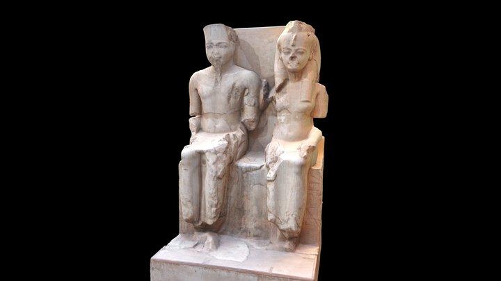 Dyad of Tutankhamen, Luxor Temple 3D Model