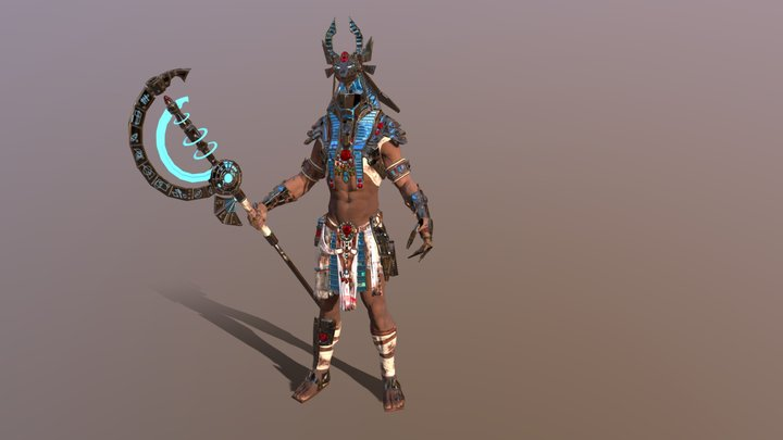 Anubis sci-fy 3D Model