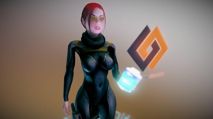 Corporate Dominion - Female Hero 3D Model