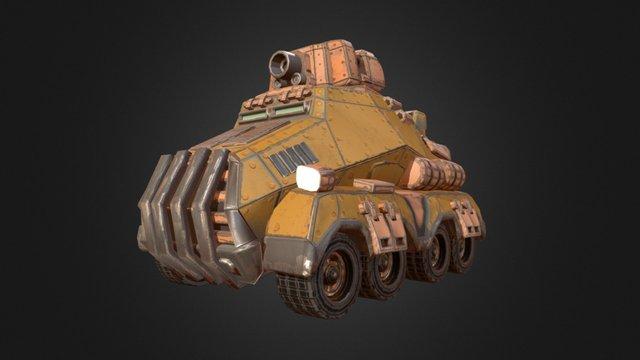 Battle Transporter 3D Model