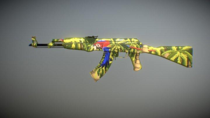 AK-47 | Scarlet 3D Model