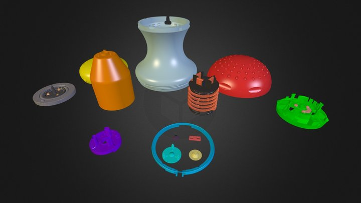 Chuveiro - Todas as Peças 3D Model