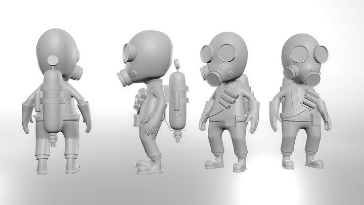 Team Fortress Mini Pyro 3D Model