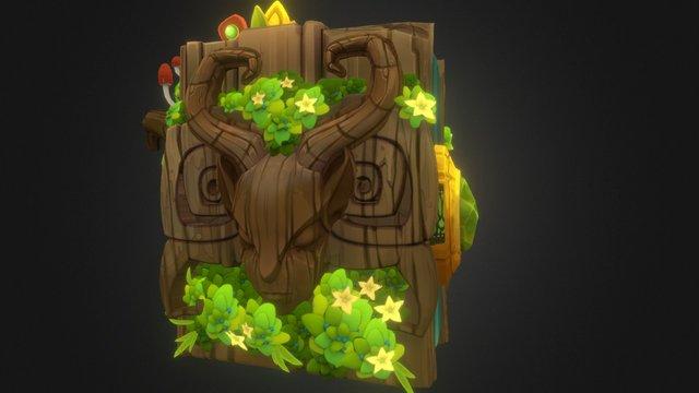 Druid Book Prop 3D Model