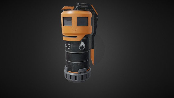 Scifi Grenade 3D Model