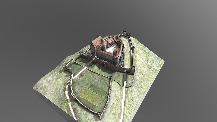 BURG HOHENNAGOLD REKONSTRUK - duplicated version 3D Model