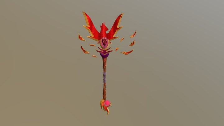 Phoenix stylized weapon 3D Model