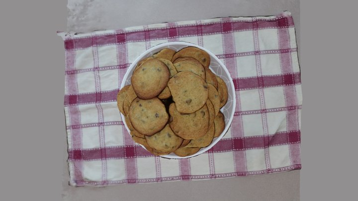 Chocolate Chip Cookies 3D Model