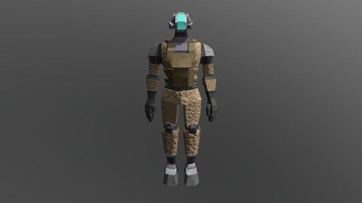 MilitaryDragon 3D Model