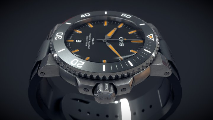 Oris Aquis Wrist Watch 3D Model