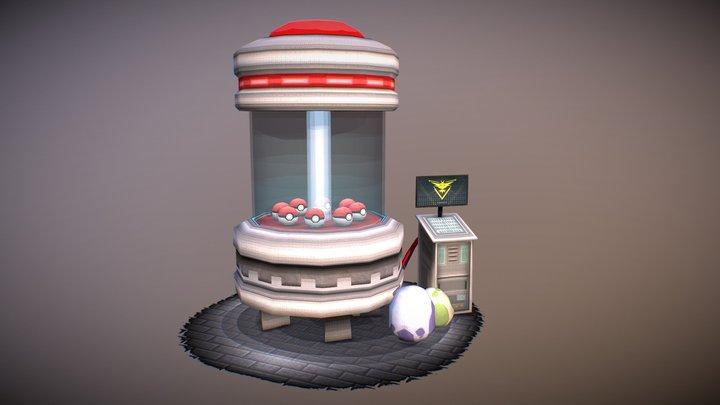 Pokemon GO Scene || Diorama 3D Model
