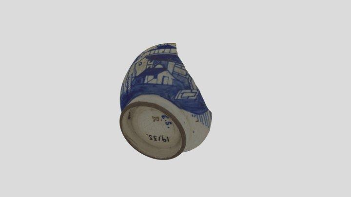 Creamware Rörstrand cup. Stockholm around 1800 3D Model