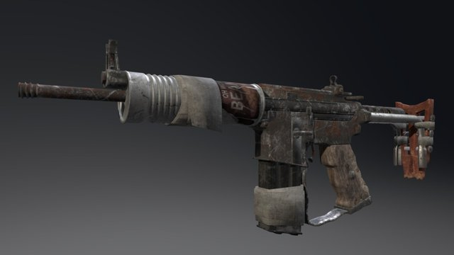 Makeshift Carbine 3D Model