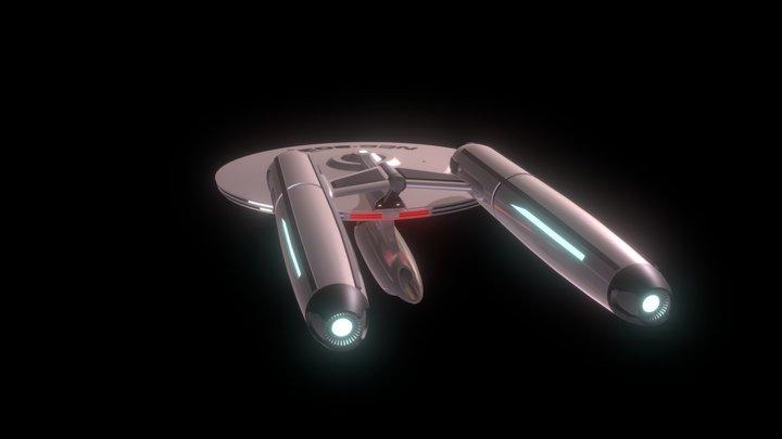 USS Challenger 3D Model