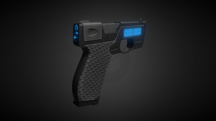 Cyberpunk Gun - Geind D-640 3D Model