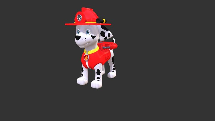 Rubble Paw Patrol Game 3D Model
