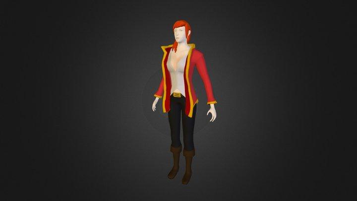 Captain Ashara Wakecrasher 3D Model