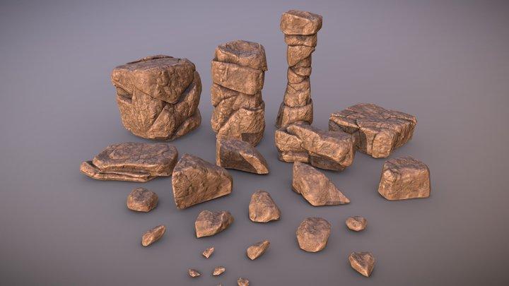 Rock Pack 1 3D Model