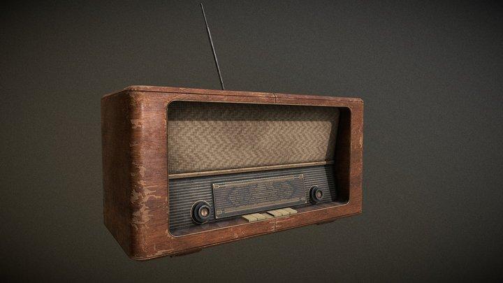 Vintage German Radio 3D Model