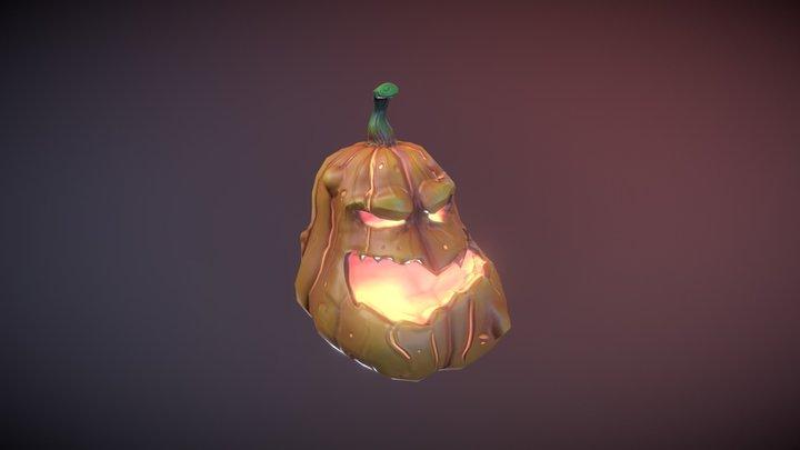 Pumpkin Head 3D Model