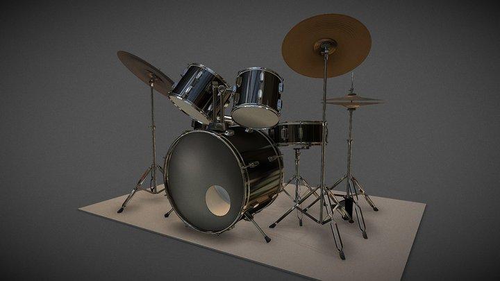 Batería / Drum Set 3D Model