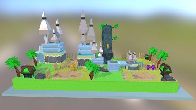 The Mini Island 3D Model