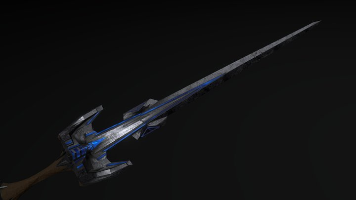 Glowing Sword 3D Model
