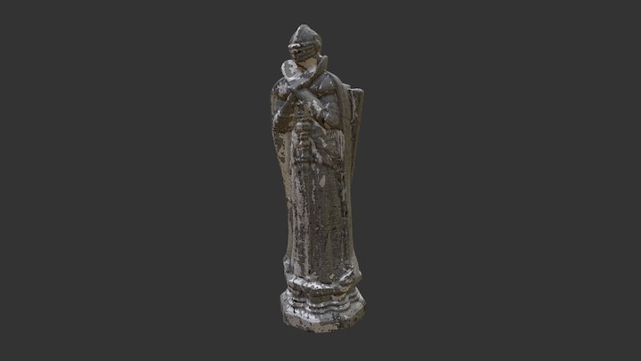 Queen Chess piece from Harry Potter franchise. 3D Model