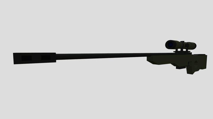 Low Poly AWP 3D Model