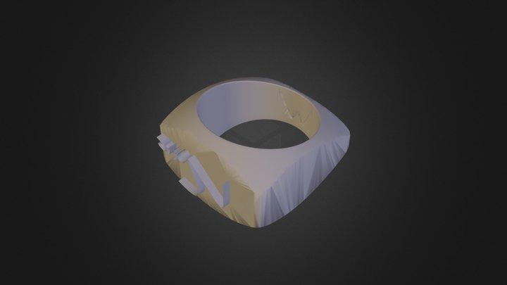 משלי נופר טבעת פשוטה 3D Model