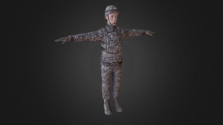 Guy Soldier 3D Model