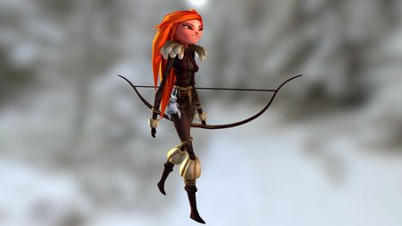 Ygritte Walk Cycle [Animation] 3D Model