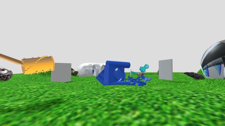 Pixel Exhibition 3D Model