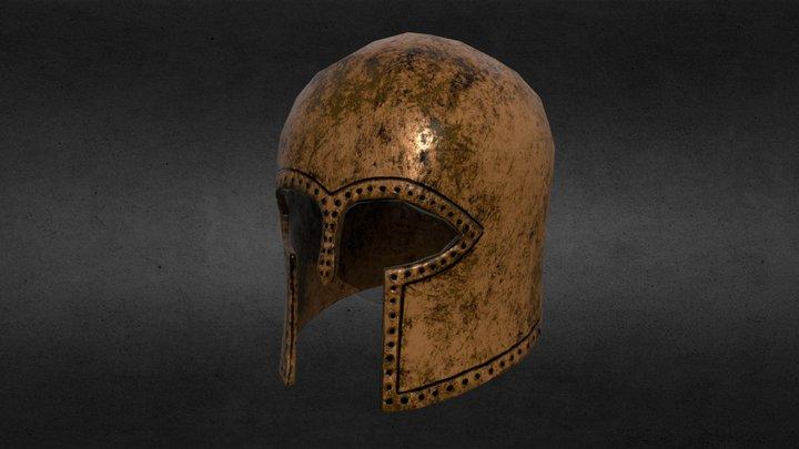 Corinthian Helmet - Low Poly. 3D Model