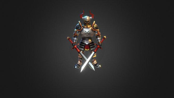 Lowpoly Swordsman 3D Model