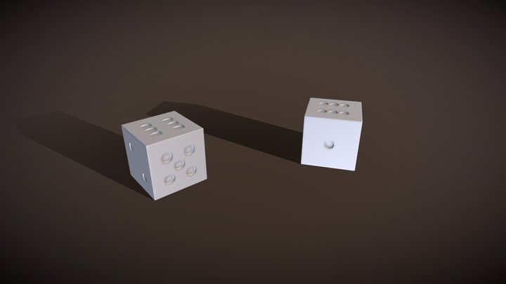 Dice Alone 3D Model