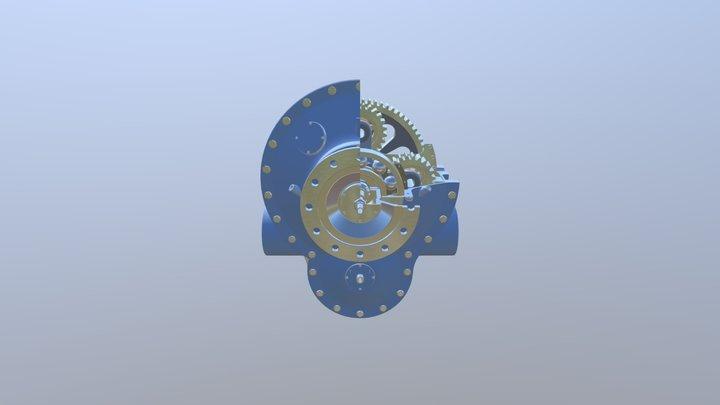 Gearbox Propeller Turbine 3D Model